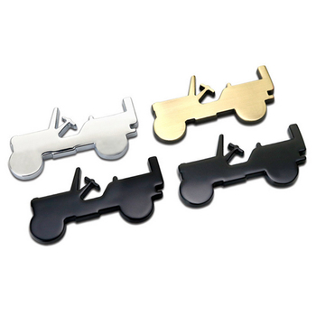 1 adet 3D Metal Off-road SUV Araba sticker Amblem Rozet Araba Styling sticker Jeep Bmw Için Fiat VW Ford Audi Toyota Lada