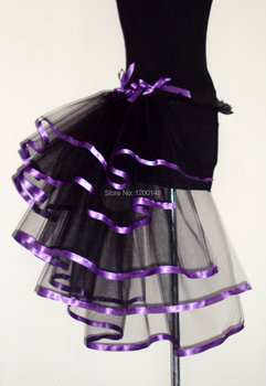 Women's Lady's Mix Color Tail Fluffy Organza Ballet Dance Tutu Skirt Christmas Rave Party Costume Cosplay Skirt 2 Colors